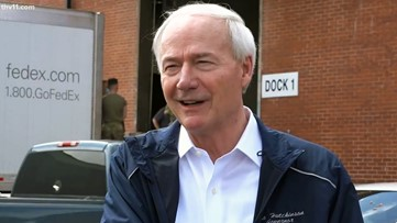 Governor Asa Hutchinson welcomes large shipment of PPE