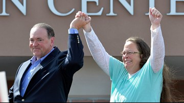 Kentucky governor says Kim Davis should pay legal fees in same-sex marriage case