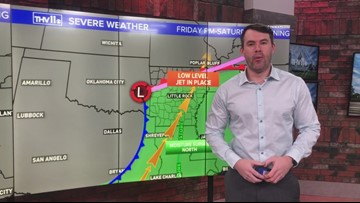 Severe weather in central Arkansas this weekend