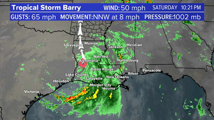 Updated Barry map 10 p.m. 07/13