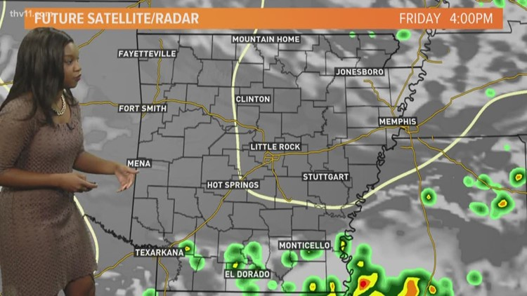 Little Rock Weather Map.Morning Weather Forecast For June 22 Thv11 Com
