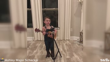 3-year-old Louisiana boy rocks Luke Combs 'Beautiful, Crazy' with overalls, guitar