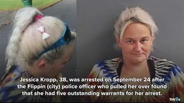 Flippin woman arrested found with hair bow made out of meth