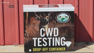 CWD testing drop-off containers now open