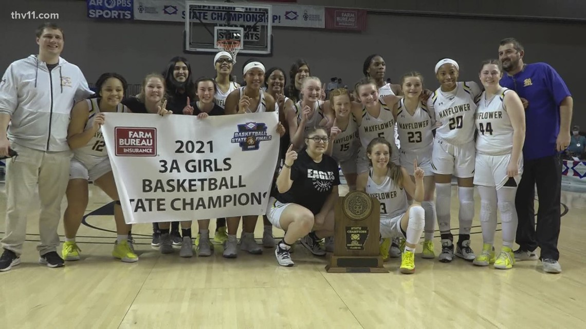Last second bucket gives Mayflower girls 3A championship