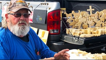 'I love seeing smiles on their faces' | Carving out a retirement in a Cabot parking lot