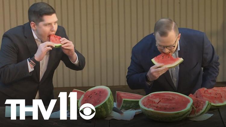 Michael & Skot taste some of the best watermelons in Arkansas