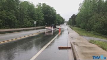Large amounts of flooding in Benton on Edison Road