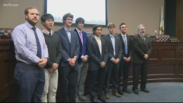 Pulaski Academy tennis honored by city of Little Rock