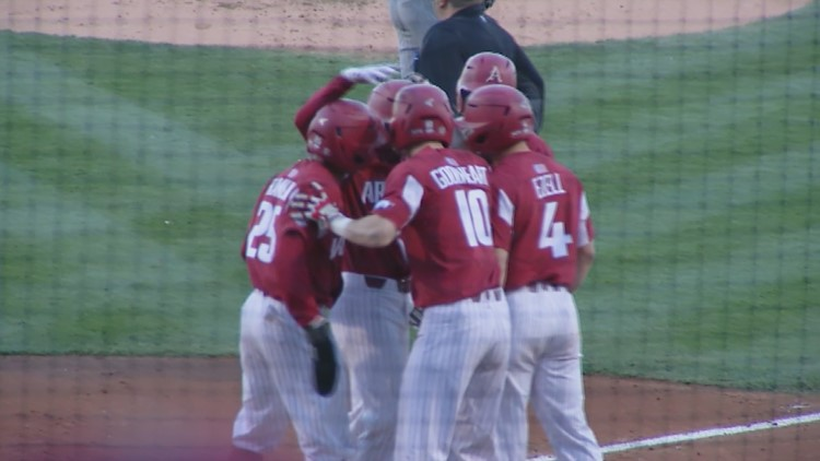 Hogs plate 12 for series win over #2 Mississippi State