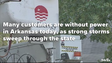 Power outages in Arkansas