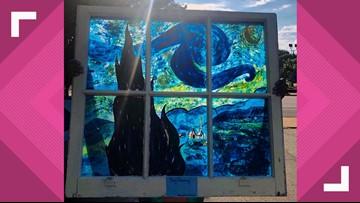 Bernice Garden uses windows to transform into art gallery