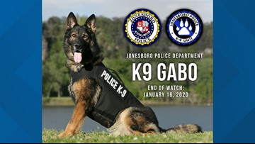 Jonesboro Police Department's K9 Gabo dies at the age of 8