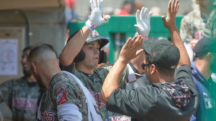 White's clutch homer sends Travs to break with win