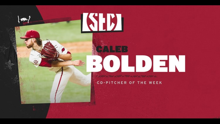 Bolden Named SEC Co-Pitcher Of The Week