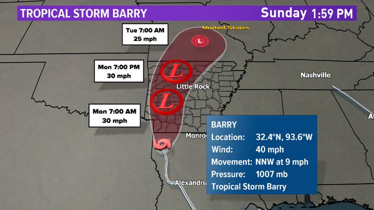 Barry update Sunday