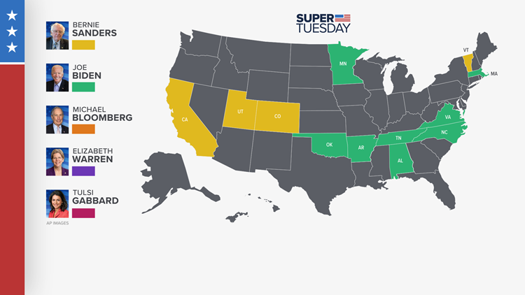super tuesday map update