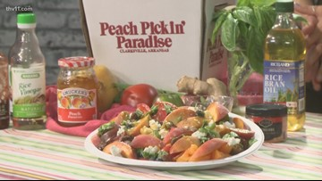 A loose recipe centering around heirloom tomatoes & Arkansas peaches