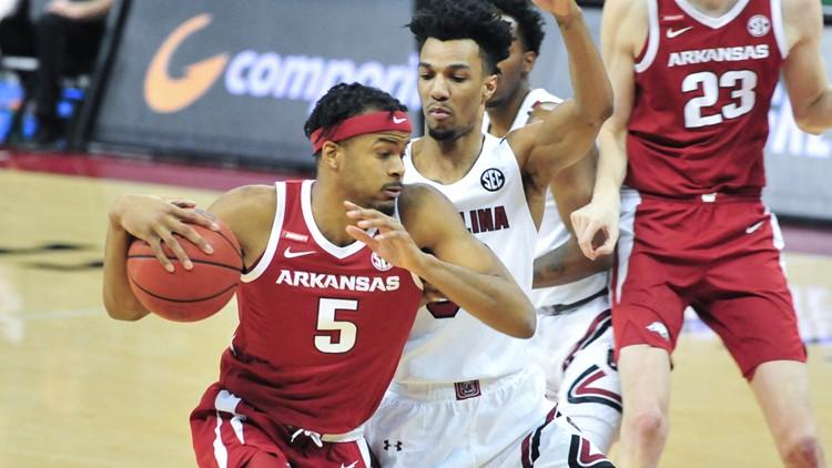 Moody leads No. 12 Arkansas past South Carolina 101-73