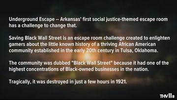 Saving Black Wall Street escape room challenge