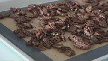 Heart-healthy, delicious maple-spiced pecans for a great nutritious snack