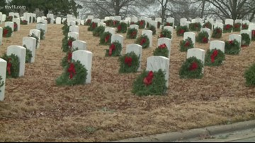 Fallen veterans honored at wreath ceremony