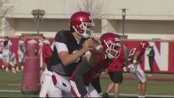 Razorback offense wins practice belt for first time