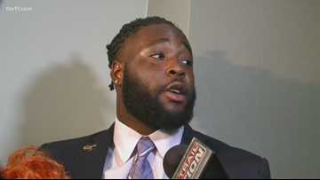 Sosa Agim honors murdered cousin with Chucky Doll at SEC Media Day