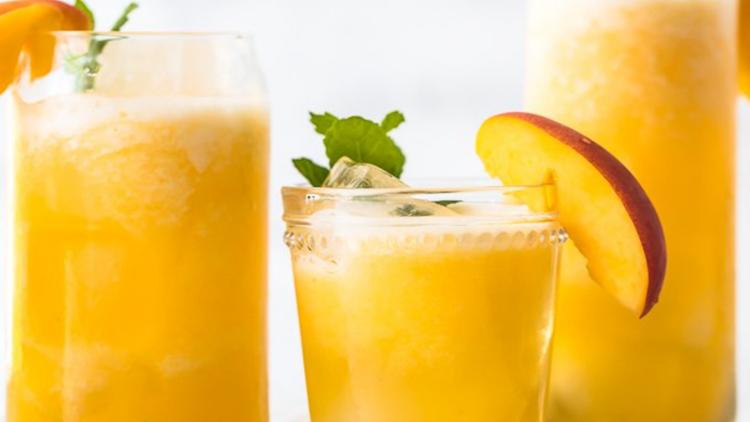 Recipe: frosty peach lemonade