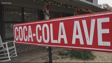 The Cook home is covered in Coca-Cola decor