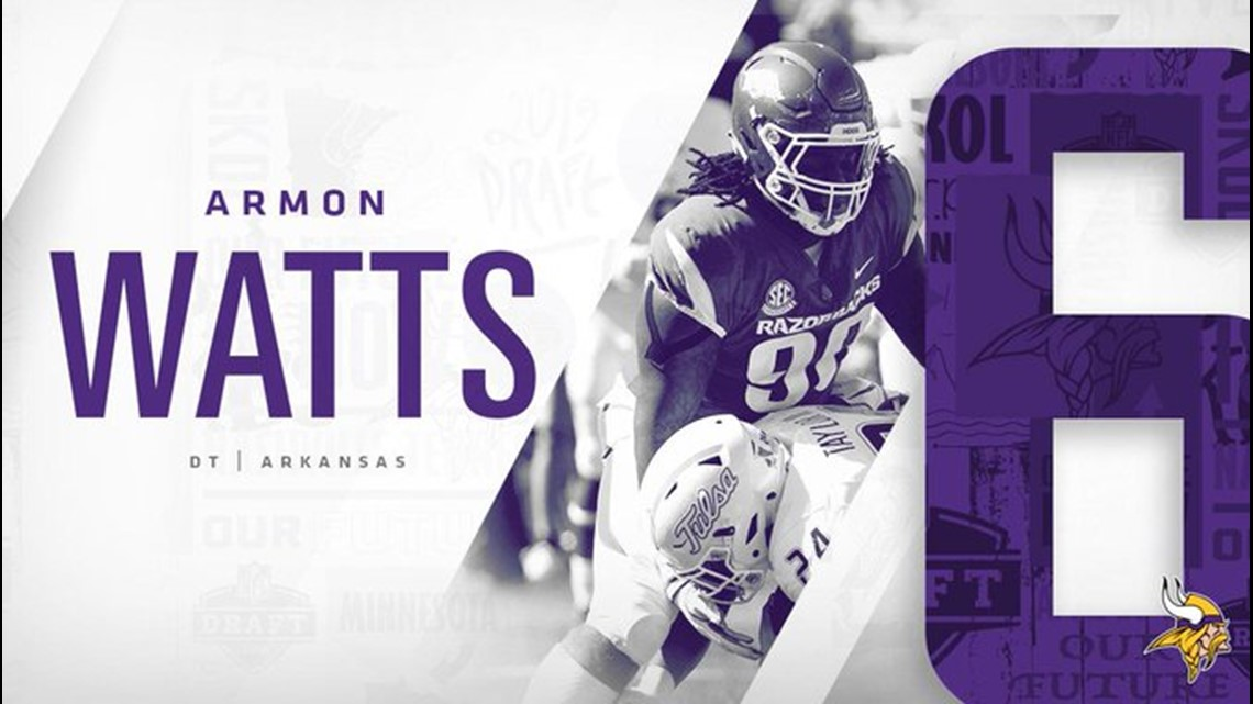finest selection 422f7 a371d Watts goes to Vikings in 6th round | thv11.com