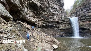Cedar Falls Trail features a majestic waterfall that is 95 feet tall!