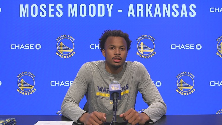 Moses Moody works out for Golden State Warriors