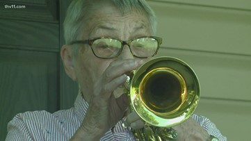 91-year-old plays cornet to honor veterans on Memorial Day