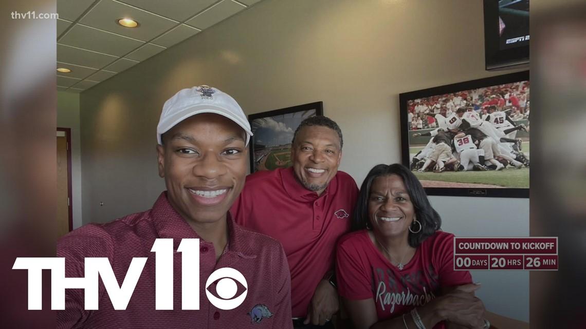 Arkansas Razorback alumnus shares special bond with son