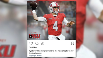 Quarterback Ty Storey transfers to Western Kentucky Hilltoppers