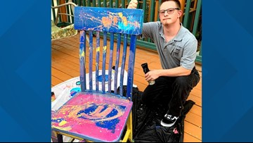 Little Rock artist brings works of art back to life with reclaimed wooden rockers