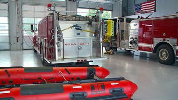Searcy Fire Dept Rescue Team on standby in case of flash flooding