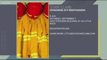 Little Rock firefighters gear up for 9/11 Memorial Stair Climb