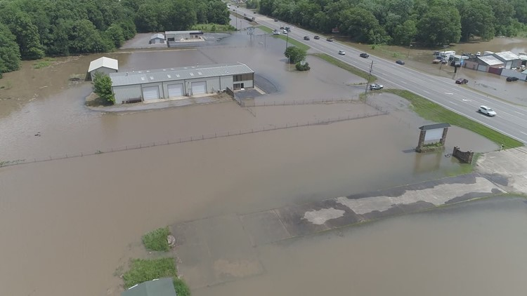 Flooding off Highway 7 near Russellville