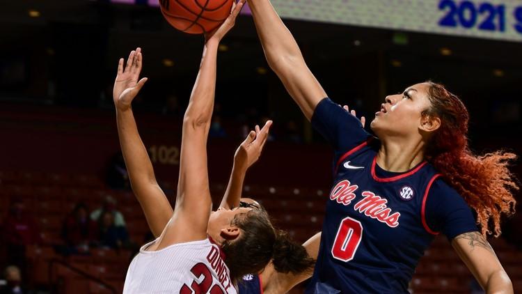 Austin, Ole Miss women upend No. 13 Arkansas in SEC tourney