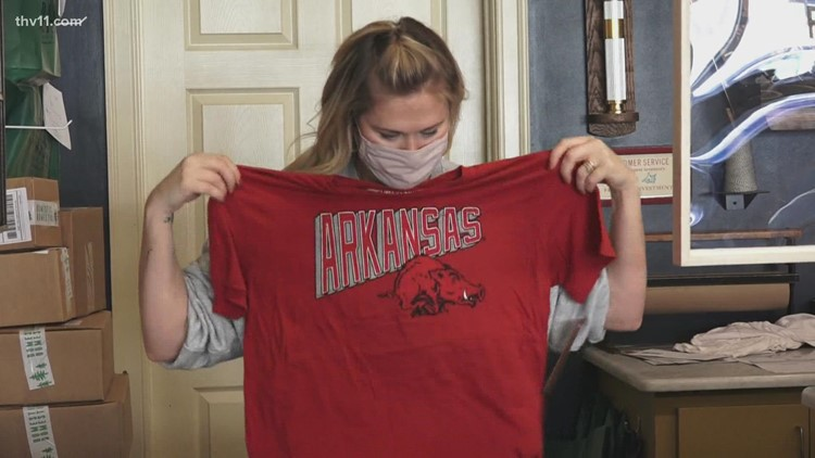 Sudden boom in Hogs gear helping local businesses overcome pandemic strain