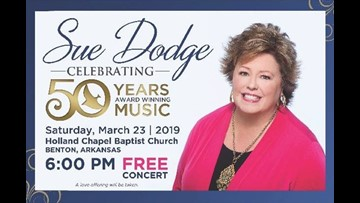 Free Sue Dodge concert to celebrate 50 years in Gospel music