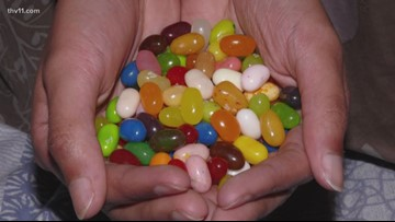 Jelly Belly jelly beans are a mouthful for Erika Ferrando
