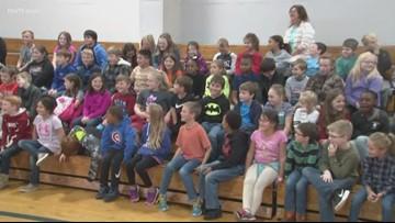 The crayons go on strike at DeWitt Elementary School
