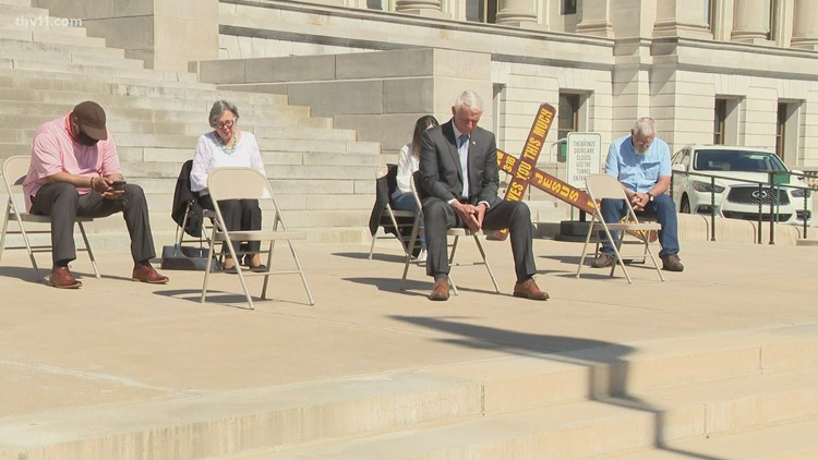 State leaders and city officials gather at Arkansas State Capitol to celebrate 'National Prayer Day'