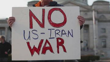 Arkansans gather for 'No Iran War' rally