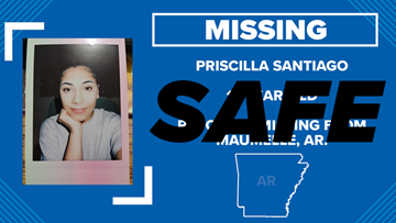 Maumelle police safely locate 17-year-old Priscilla Santiago