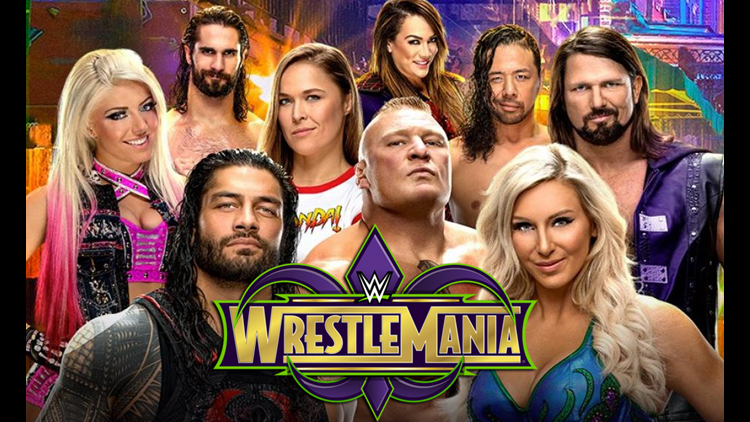 WrestleMania 34 This Sunday Featuring Ronda Rousey, Brock Lesnar