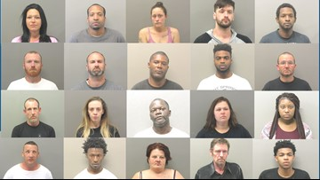 25 arrested in Hot Springs during multi-agency warrant round